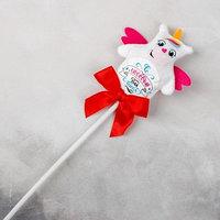 Мягкая игрушка 'С любовью', единорог, на палочке (комплект из 10 шт.)