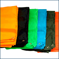 Огнезащитные одеяло и ПВХ тент / Tarpaulin and blanket