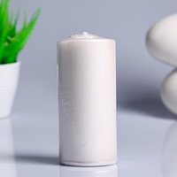 Свеча - цилиндр парафиновая, лакированная, белый перламутр, 5,6x12 см