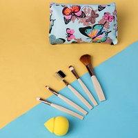 Набор для макияжа 'Бабочки', 6 предметов, в чехле, цвет МИКС