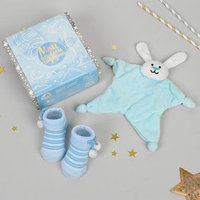 Игрушка для новорождённых 'Мой первый подарок', пинетки, зайчик
