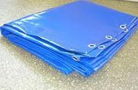 Брезент полиэтиленовый синий / Tarpaulin PVC blue