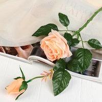 Цветы искусственные 'Уральская роза' персиковый 45 см