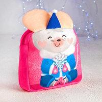 Рюкзак детский 'Мышка и снежинка' с ушками