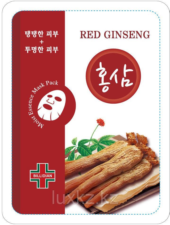 Увлажняющая маска с экстрактом красного женьшеня Billidian Red Ginseng Moist Essence Mask Pack