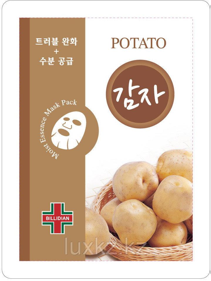Омолаживающая маска с экстрактом картофеля Billidian Potato Moist Essence Mask Pack