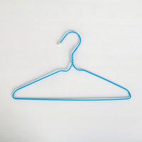 Вешалка-плечики для одежды детская, антискользящая, размер 30-34 см, ПВХ покрытие, цвет МИКС (комплект из 20 шт.)