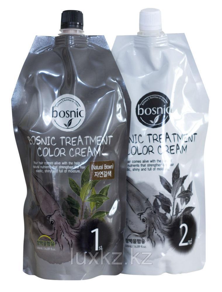 Крем-краска для волос темно-коричневая Bosnic Treatment Color Cream Dark Brown