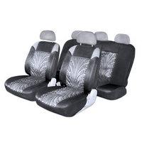 Чехлы сиденья Skyway Forward, полиэстер, 11 предметов, черно-серый