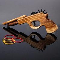 Деревянная игрушка 'Пистолет, стреляет резиночками' 2,3х22х11,5 см