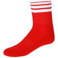 Носки спортивные для футбола, размер 38-44, цвет красный