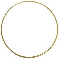 Обруч гимнастический, стальной, d90 см, стандартный, 900 г, цвет золотой