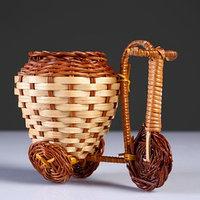 Плетеные сувениры (Велосипед) 15х9 см H 12 см.(Бамбук срезан)