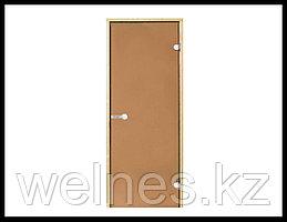 Дверь для сауны Harvia STG, 8x21 (короб - сосна, стекло - бронза, ручка - защелка)