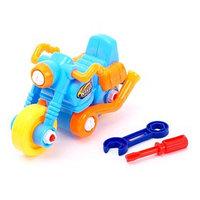Конструктор для малышей 'Мотоцикл', 22 детали, цвета МИКС
