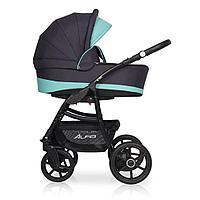 Детская коляска RIKO ALFA Ecco BASIC 2 в 1 (графит-бирюзовый 04)