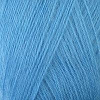 Пряжа 'Mohair delicate' 5 мохер,10 шерсть, 85 акрил 500м/100гр (6134 ярко-голубой)