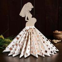 Салфетница 'Невеста с букетом', 24x13x0,3 см (комплект из 2 шт.)