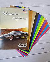 Цветной картон AUTO черн, 10 листов