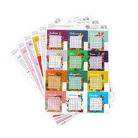 Набор наклеек-календарей, 21 х 29,7 см