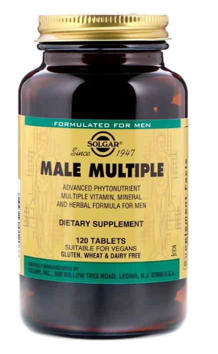 Solgar, Male Multiple, мультивитамины для мужчин, 120 таблеток