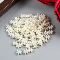 Набор бусин для творчества пластик 'Жемчужный цветочек' набор 120 шт 0,2х0,8х0,8 см