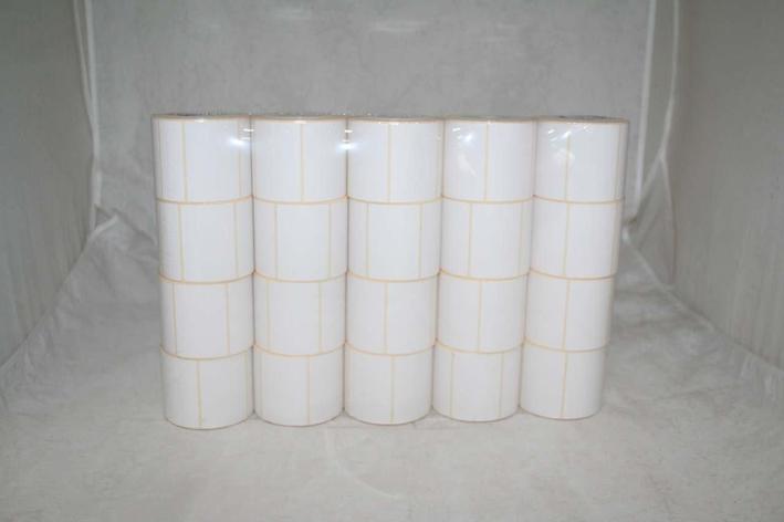 Лента весовая 58х40мм, бел., термо, ЭКО, бумага, неприн., фото 2