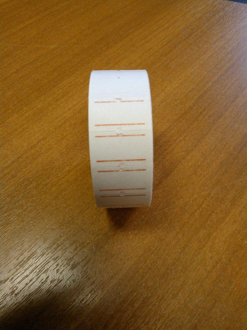 Этикет лента 21,5*12мм., бел., прямая, бум.,