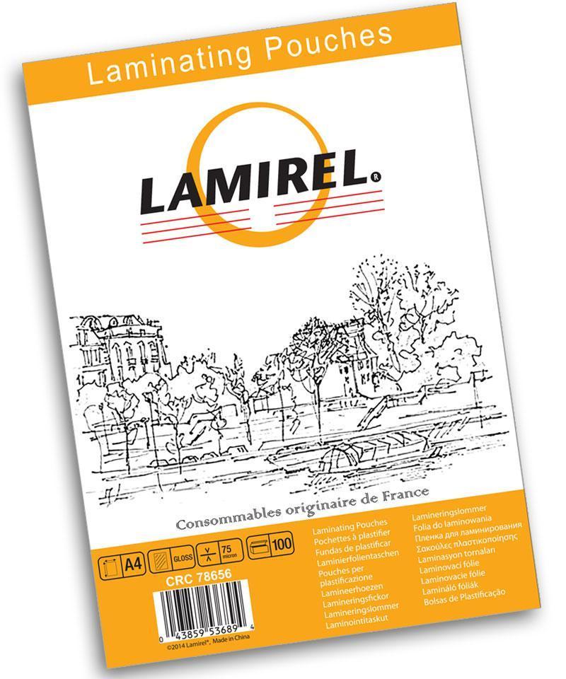 Пленка для ламинирования Fellowes Lamirel А4  75мкм  100 шт.