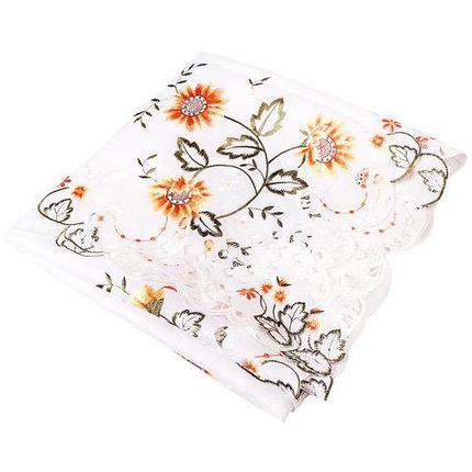 Скатерть кружевная с цветочной вышивкой Dan Li [152x228 см.] в подарочной коробке, фото 2