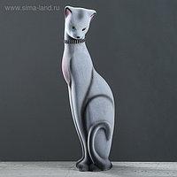 """Копилка """"Кошка Багира"""", покрытие флок, серая, 50 см"""