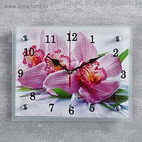 """Часы настенные, серия: Цветы, """"Орхидея"""", 20х25 см, микс"""