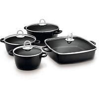 Набор кухонной посуды Lamart Cast Greblon [8 предметов] (Черный)