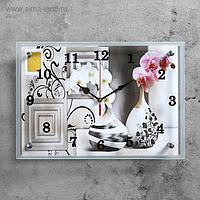"""Часы настенные, серия: Интерьер, """"Вазы"""" 25х35 см, микс"""