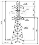 Промежуточные металлические опоры ВЛ 110кВ типа ПС110, П110, фото 4