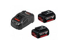BOSCH Акк. наборы батарей Li Ion + ЗУ GBA 2 x 18 В; 5,0 Ач + 1 x GAL 1880 CV