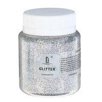 Декоративные блёстки LUXART LuxGlitter (сухие), 80 мл, размер 0.2 мм, голографическое серебро