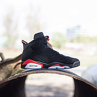 Кроссовки Air Jordan 6 Retro Black Infrared 384664-060 размер: 45,5