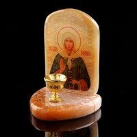 Икона 'Ксения Петербургская', с подсвечником, селенит