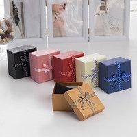 Коробочка подарочная под часы/браслет 'Бантик' в горошек, 99 (размер полезной части 8,4х7,9см), цвет МИКС (комплект из 6 шт.)