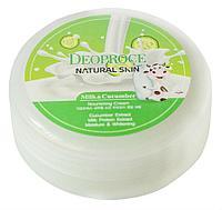 Крем с молочными протеинами и экстрактом огурца Deoproce Natural Skin Nourishing Cream Milk Cucumber