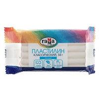 Пластилин 50 г, 'Гамма' 'Классический', белый