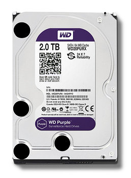 "Жесткий диск HDD 2000 Gb Western Digital (WD20PURZ), 3.5"", 64Mb, SATA III, Purple"