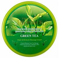 Массажный крем с экстрактом зеленого чая Deoproce Premium Clean & Moisture Green Tea Massage Cream