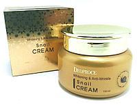 Отбеливающий крем против морщин Deoproce Whitening & Anti-Wrinkle Snail Cream