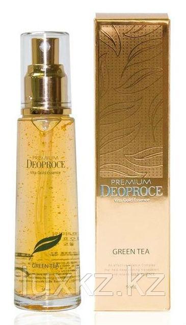 Эссенция с экстрактами золота и зеленого чая Deoproce Premium Vita Gold Essence