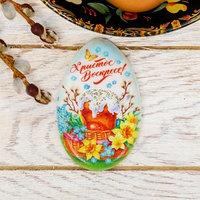 Магнит в форме яйца 'Пасхальная композиция', 5,1 х 8 см