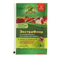 Средство для защиты от вредителей ЭкстраФлор 5 от луковой мухи и крестоцветной блошки, 1 г (комплект из 3 шт.)