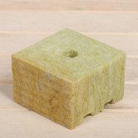 Субстрат минераловатный в кубике, 10 x 10 x 6,5 см, отверстие 15 x 15 мм, 'Эковер' (комплект из 12 шт.)