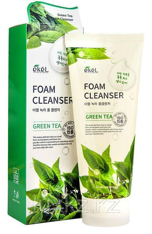 Пенка для умывания с экстрактом зеленого чая Ekel Green Tea Foam Cleanser